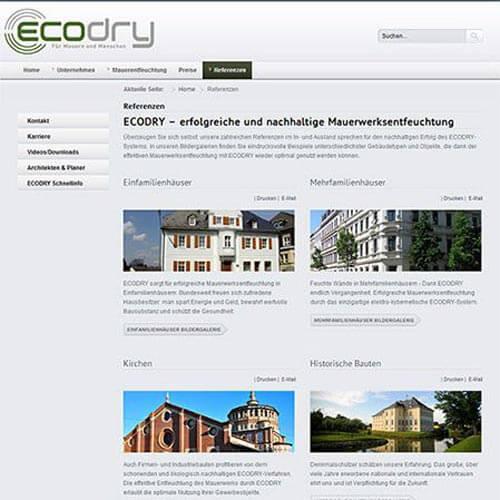 Homepage Technologie-Unternehmen