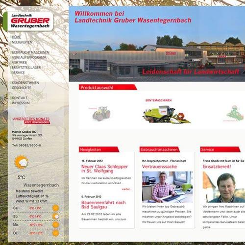 Website Landmaschinen Unternehmen