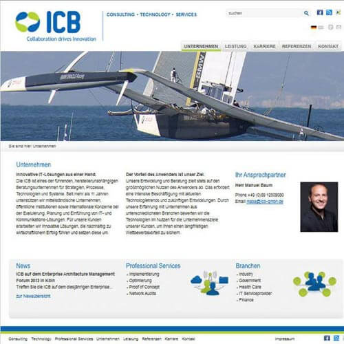 Homepage IT Beratungsunternehmen