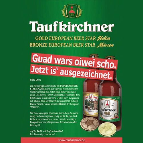 Corporate Design und Promotionmedien Brauerei