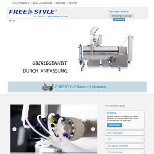 Labortechnologie Website