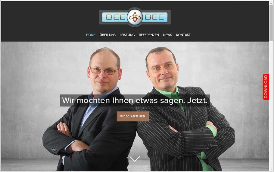 Neue Website der BEE BEE Werbeagentur
