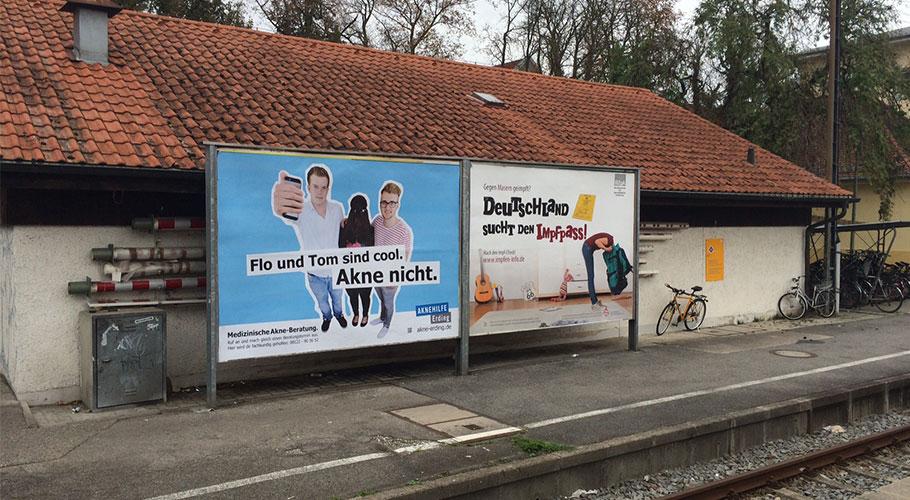 Kampage für Aknehilfe Erding