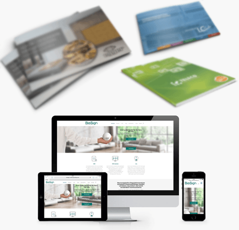 Werbemittel Broschüren Flyer Visitenkarten responsive Webdesign neue Medien in Ulm
