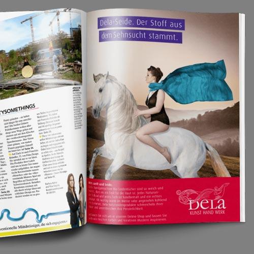 Werbeanzeige Broschuere Print Kampagne