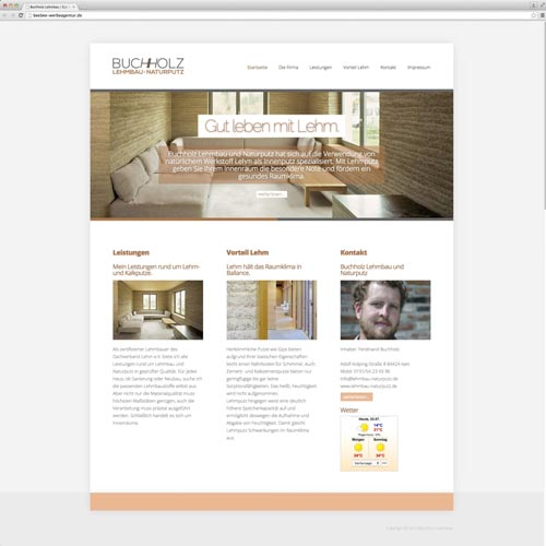 Homepage Handwerksbetrieb