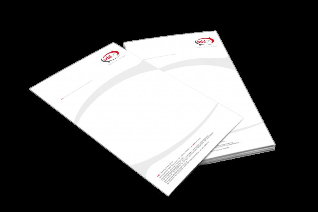 Briefpapier und Logogestaltung für Telemarketing Agentur