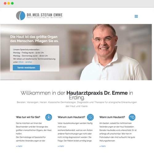 Website Hautarzt, Dermatologe