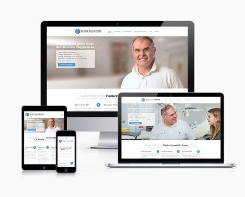 website arzt hautarzt responsive