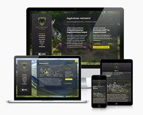 Website Jagdreisen WordPress