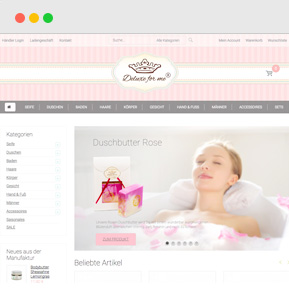 Webshop Online Shop Hautpflege Vorschau