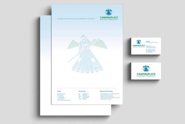 Briefpapier Corporate Design Campingplatz