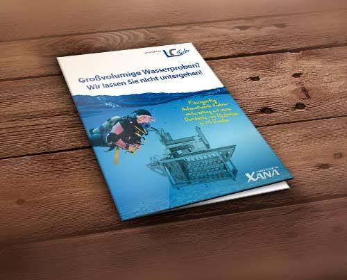 Folder Broschüre für Wasseranalysen und Wasserproben