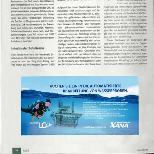 Anzeigenkampagne Labortechnologie Hersteller