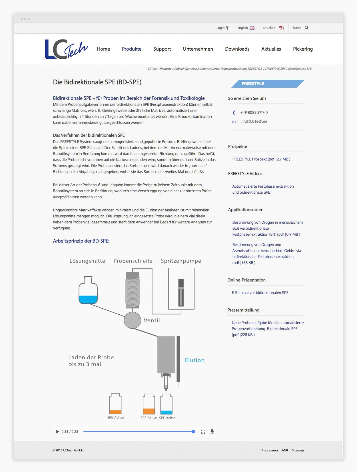 Website Labortechnologie Contentpage