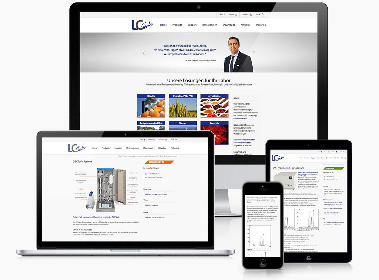 Website Labortechnologie responsive Typo3