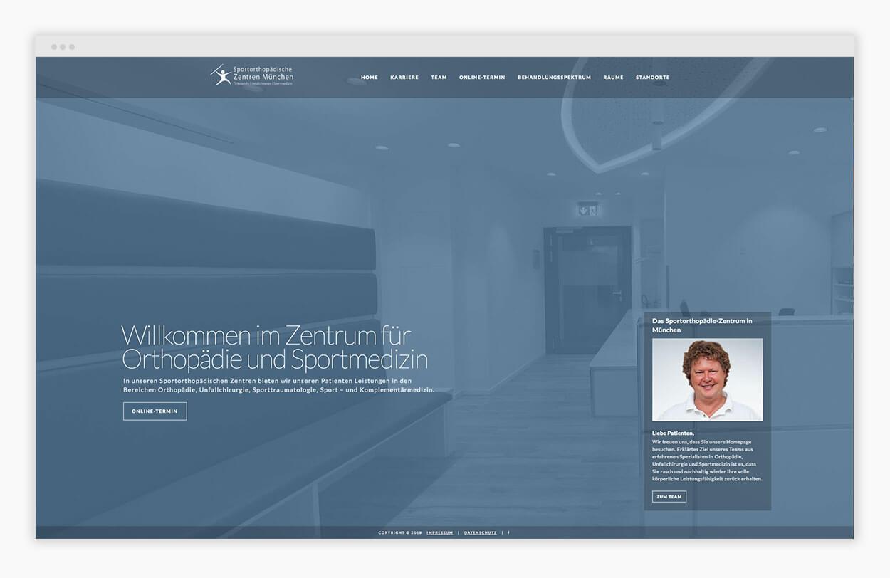 arzt-website-homepage