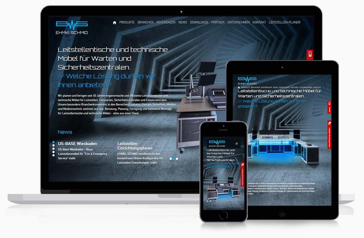 website technik leitstellen responsive homepage