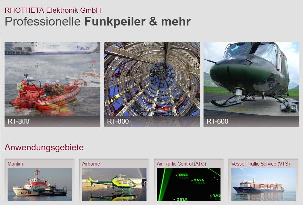 Broschüren und Website Rhotheta GmbH