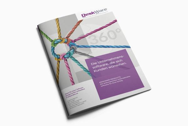 Titelseite Imagebroschüre Software Firma Deskware