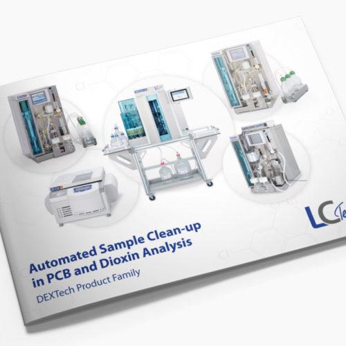 Broschüre Dextech für eine Labortechnik Firma