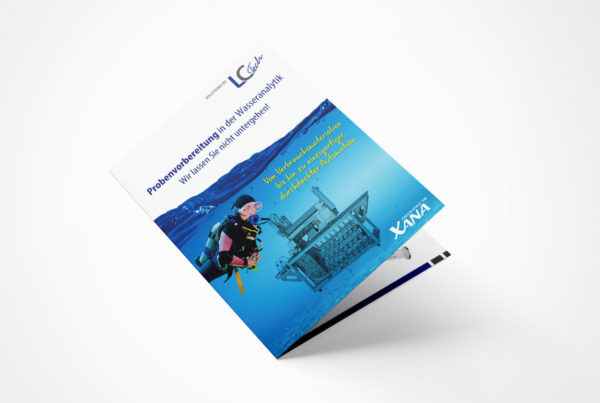 Faltblatt Wasserforum für eine Labortechnik Firma