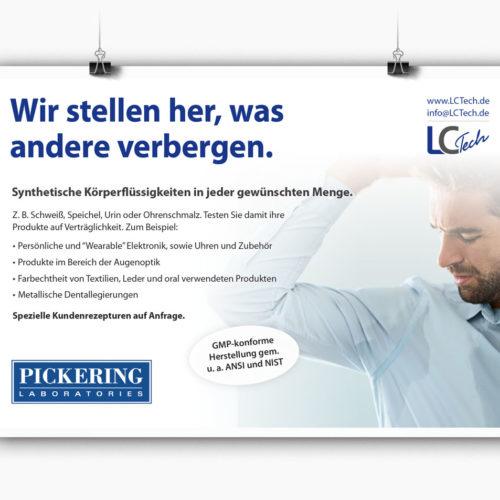 Printkampagne für die synthetische Herstellung von Körperflüssigkeiten