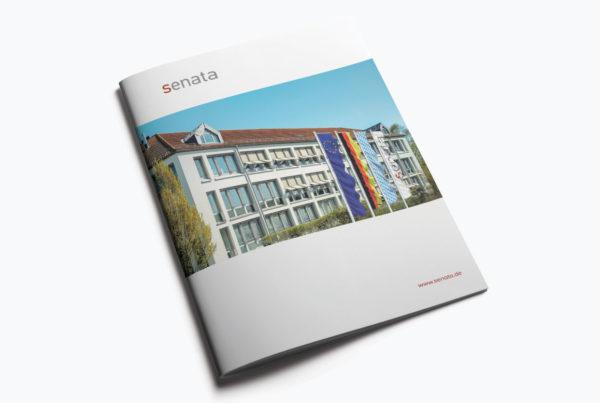 Titelseite Imagebroschüre 52 Seiten für eine Holding in Freising