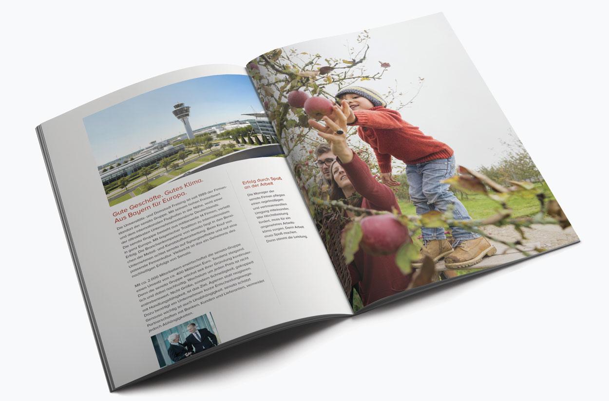 Doppelseite 2, Imagebroschüre 52 Seiten für eine Holding in Freising