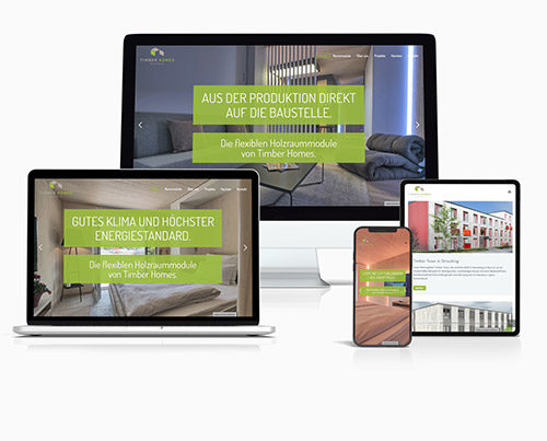 Vorschaubild Multiscreen Website Timber Homes