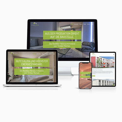 Vorschaubild Multiscreen Website Timber Homes