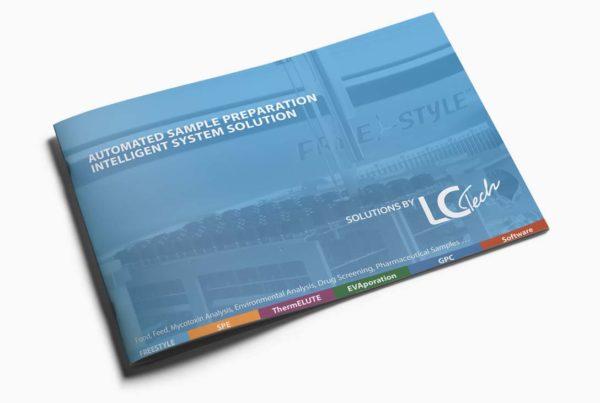 Broschüre Freestyle Titel für eine Labortechnik Firma