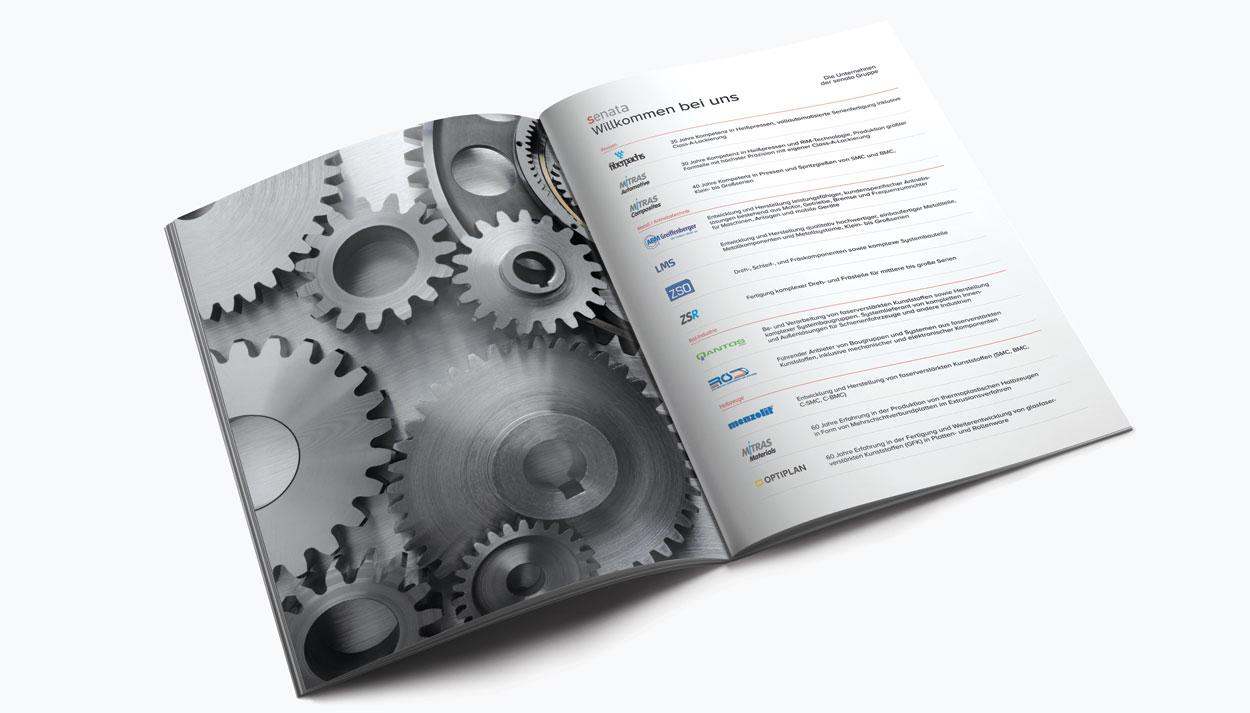Doppelseite 3, Imagebroschüre 52 Seiten für eine Holding in Freising
