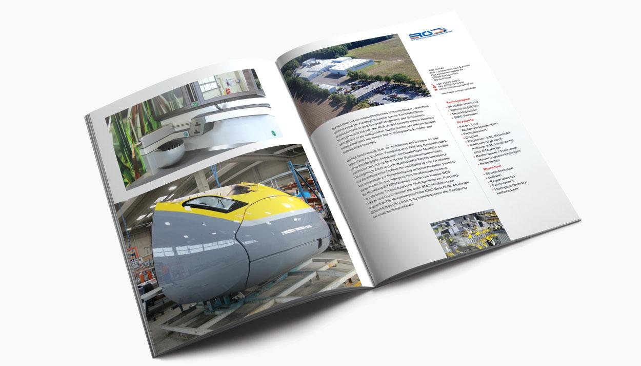 Doppelseite 4, Imagebroschüre 52 Seiten für eine Holding in Freising