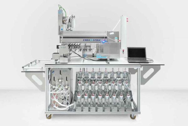 Automatisierte Probenaufreinigung für die Wasseranalytik.