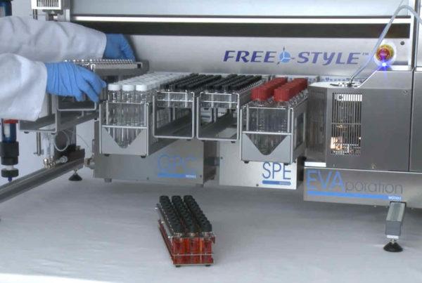 Das Freestyle-Robotiksystem zur automatisierten Probenvorbereitung mit allen Modulen.