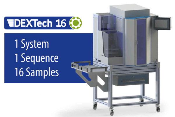 Robotiksystem zur automatisierten Probenvorbereitung für die PCB- und Dioxinanalytik.