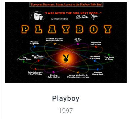 Playboy Website - Webdesign Museum